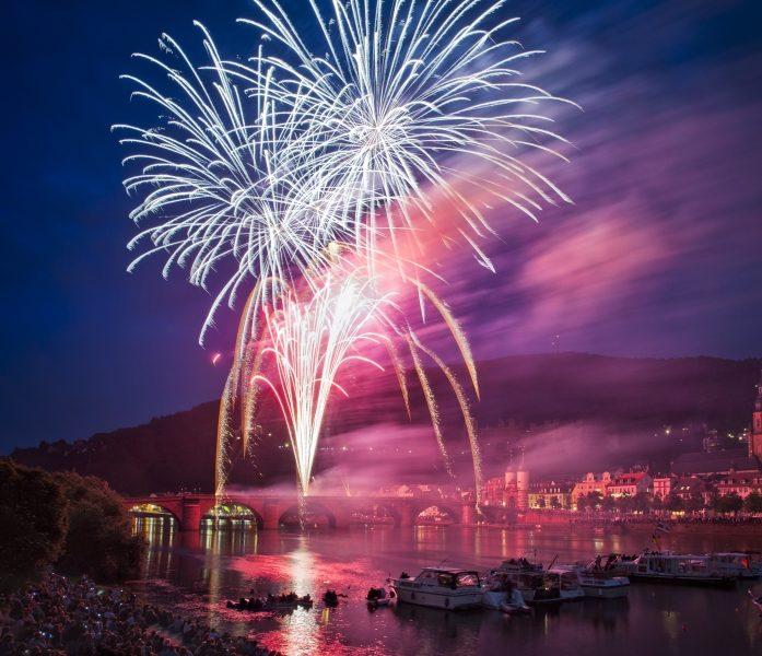 Feuerwerk Heidelberger Schlossbeleuchtung