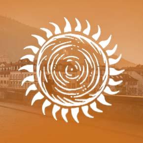 orangene Sonne