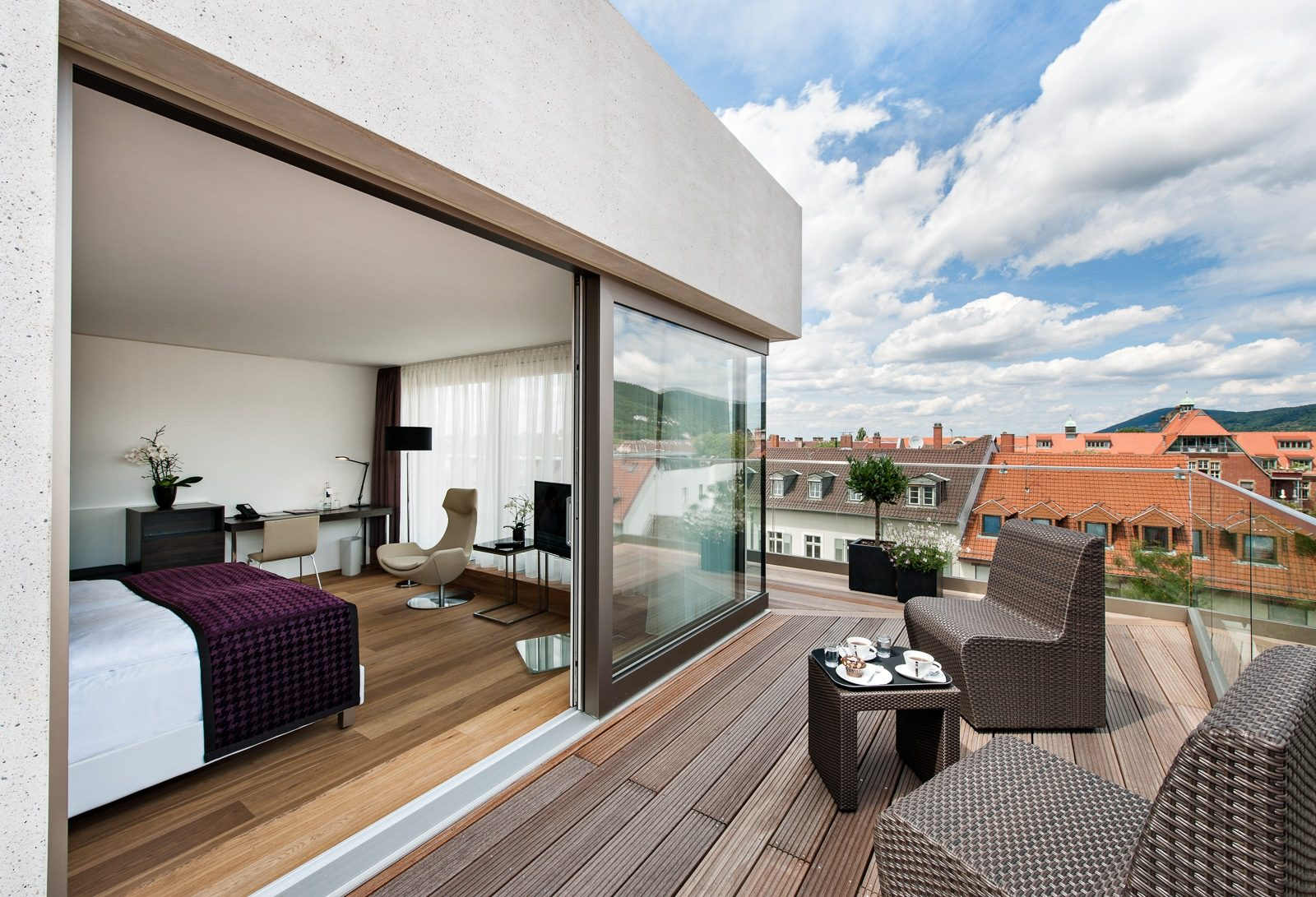 Dachterrasse Junior-Suite Bergheim41